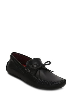 Get Glamr Classic Moc Black Boat Shoes