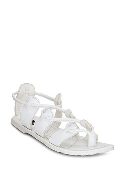 Get Glamr Tork White Casual Sandals