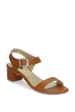 Get Glamr Percy Dark Tan Ankle Strap Sandals
