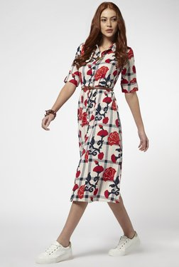 Bombay Paisley By Westside Off White Dress With Belt