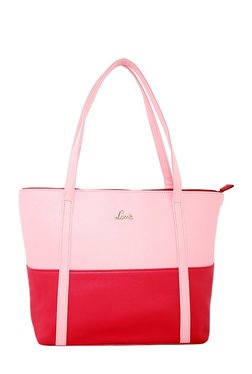 Lavie Kinship Creole Pink & Red Color Block Shoulder Bag