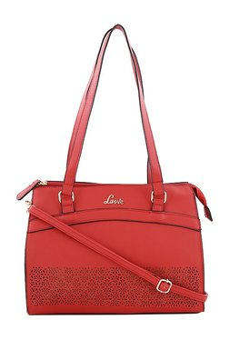 Lavie Slow Futures Rockwell Red Cut Work Shoulder Bag