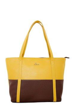 Lavie Kinship Creole Ochre Yellow Color Block Shoulder Bag