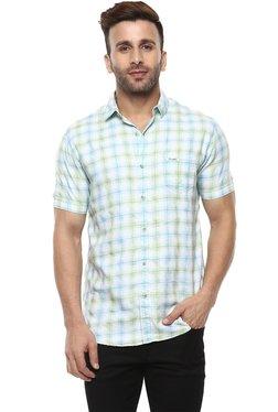 642752da1 Mufti Light Blue Half Sleeves Cotton Shirt