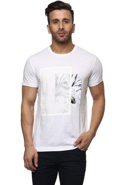 Mufti White Crew Neck Slim Fit T-Shirt