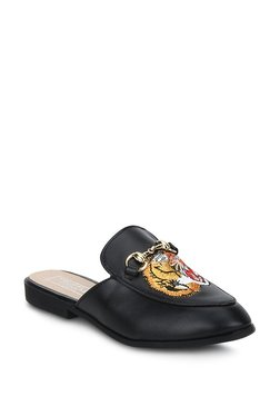 Truffle Collection Black & Yellow Mule Shoes