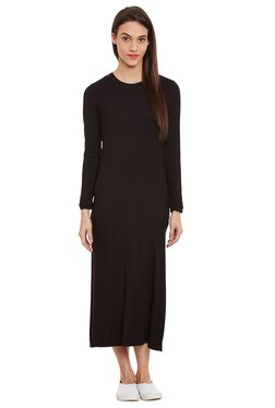 Label Ritu Kumar Black Regular Fit Midi Dress