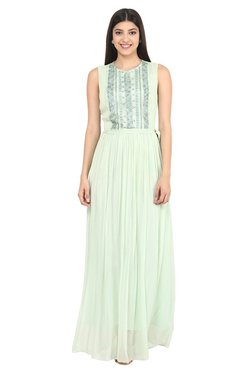 Label Ritu Kumar Mint Printed Maxi Dress