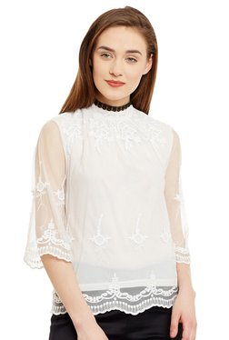 The Yellow Hanger White Embroidered Broderie Top