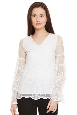 The Yellow Hanger White Embroidered Broderie Blouse