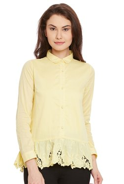 The Yellow Hanger Yellow Embroidered Shirt