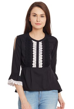 The Yellow Hanger Black Lace Top