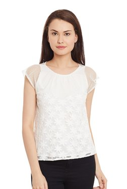 The Yellow Hanger White Embroidered Top