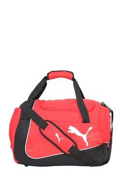 Puma Evopower Red & Black Striped Polyester Duffle Gym Bag