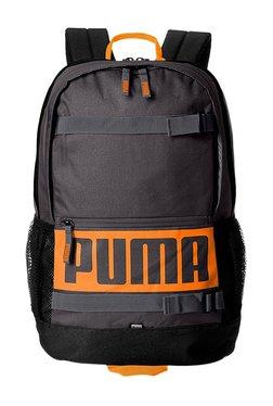 128719400d39 Puma Deck Asphalt Black Solid Polyester Laptop Backpack