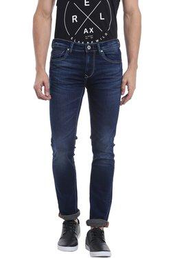 Killer Dark Blue Slim Fit Low Rise Lightly Washed Jeans