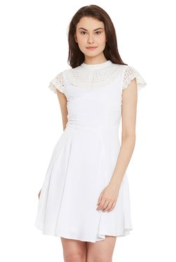 The Yellow Hanger White Lace Above Knee Dress