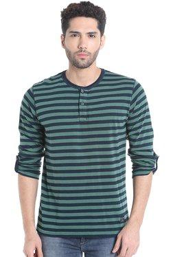 Killer Olive Full Sleeves Striped T-Shirt