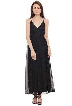 The Yellow Hanger Black Lace Maxi Dress