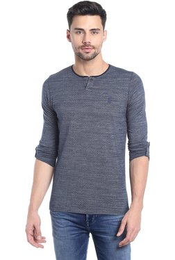 Killer Navy Slim Fit Henley T-Shirt