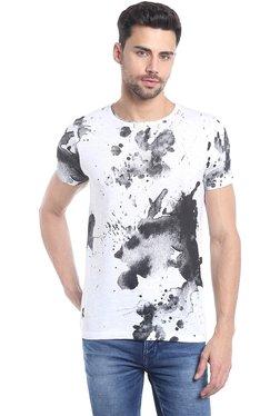 Killer White & Black Printed Half Sleeves T-Shirt