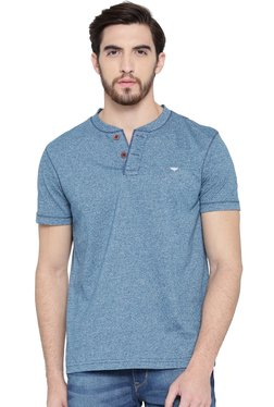Red Tape Blue Smart Fit Henley T-Shirt