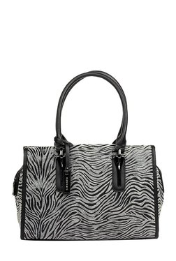 Pavers England Grey & Black Printed Shoulder Bag