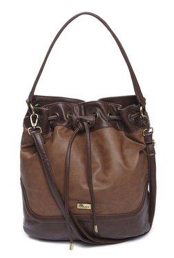 LOV By Westside Brown Bucket Sling Bag
