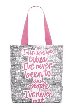 Nuon By Westside Pink Canvas Tote Bag - Mp000000002239202
