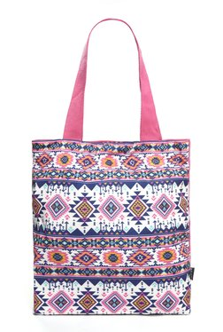 Nuon By Westside Pink Canvas Tote Bag