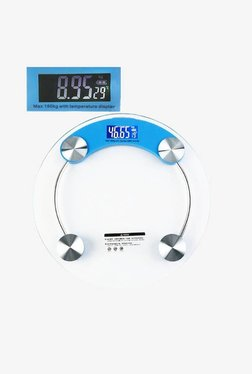 MCP RWS-01 Deluxe Glass Round Shape Weighing Scale For Body (Clear)