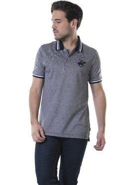 BHPC Grey Short Sleeves Cotton Polo T-Shirt
