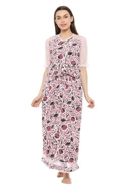 ccd52060c4e Mystere Paris Pink Printed Night Gown