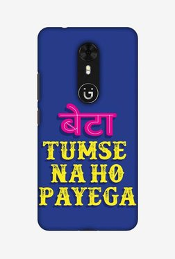 Amzer Tumse Naa Ho Payega Hard Shell Designer Case For Gionee A1