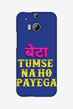 Amzer Tumse Naa Ho Payega Hard Shell Designer Case For HTC One M8/M8 EYE/M8s