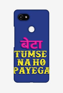 Amzer Tumse Naa Ho Payega Hard Shell Designer Case For Google Pixel 2 XL
