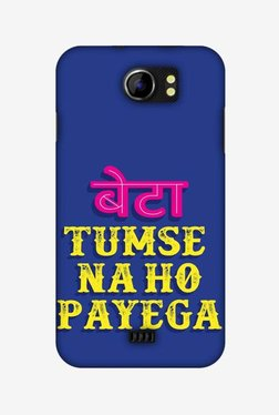 Amzer Tumse Naa Ho Payega Hard Shell Designer Case For Micromax Canvas 2