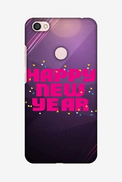 Amzer Happy New Year Hard Shell Designer Case For Redmi Note 5A Prime/Y1/Y1 Lite