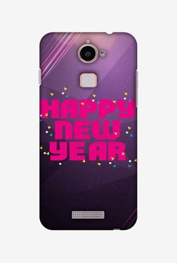 Amzer Happy New Year Hard Shell Designer Case For Coolpad Note 3 Lite