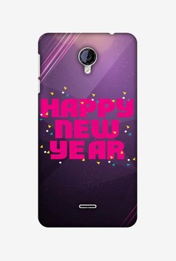 Amzer Happy New Year Hard Shell Designer Case For Micromax Canvas Unite 2