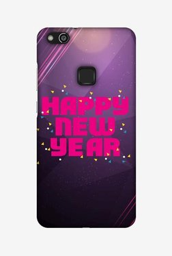Amzer Happy New Year Hard Shell Designer Case For Huawei P10 Lite