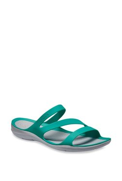 eed37067664d Crocs Swiftwater Tropical Teal   Light Grey Casual Sandals