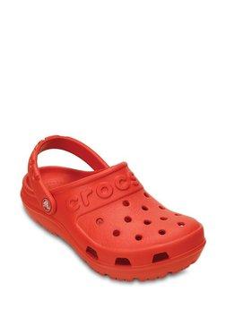 0b288172d783 Crocs Kids Hilo Flame Red Back Strap Clogs