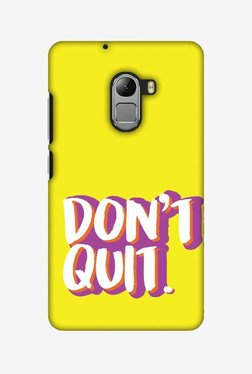 Amzer Dont Quit Hard Shell Designer Case For Lenovo A7010/K4 Note