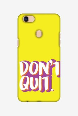 Amzer Dont Quit Hard Shell Designer Case For Oppo F5/F5 Youth