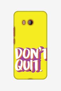 Amzer Dont Quit Hard Shell Designer Case For HTC U11