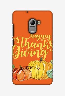 Amzer Pumpkin Pattern Thanksgiving Hard Shell Designer Case For Lenovo A7010/K4 Note