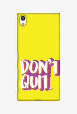 Amzer Dont Quit Hard Shell Designer Case For Sony Xperia Z5 Premium