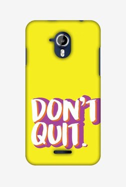 Amzer Dont Quit Hard Shell Designer Case For Micromax Canvas Magnus