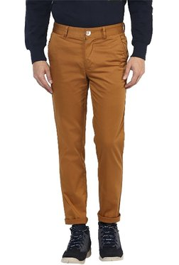 Red Chief Brown Regular Fit Cotton Trousers